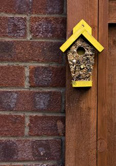 Free Bird Seed In The Shape Of A House Royalty Free Stock Images - 14054609
