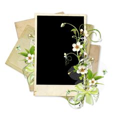 Free Frame With Apple Tree Flowers Stock Image - 14057041