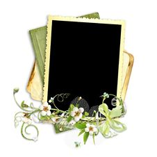 Free Old Paper Frame With Apple Tree Flowers Stock Photos - 14057133
