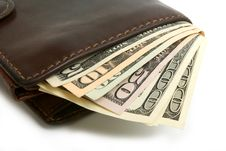 Free Dollars Banknotes In Purse Stock Photography - 14057392