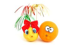 Free Funny Orange And Lemon Royalty Free Stock Photography - 14057477