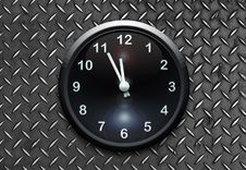 Free Clock On Metal Wall Stock Photos - 14058783