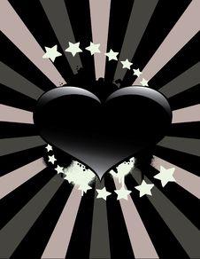 Free Black Heart Background Royalty Free Stock Photos - 14059338