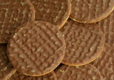 Chocolate Digestive Biscuits Royalty Free Stock Photography