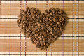 Free Coffee Beans In A Shape Of Heart. View From Above. Stock Image - 14060961