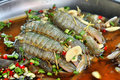 Free Mantis Shrimp Soak Fish Souse Royalty Free Stock Photo - 14065035