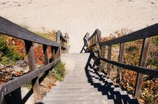 Free Stairs Leading To The Beach Stock Photo - 14060480