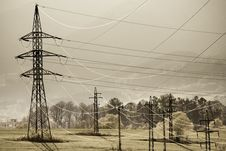 Free Power Poles Royalty Free Stock Photography - 14060507