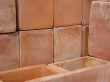 Free Tiled Plant Pots Royalty Free Stock Images - 14060639