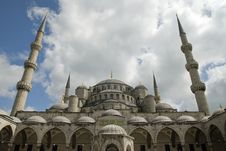 Sultan Ahmet Mosque Stock Photo
