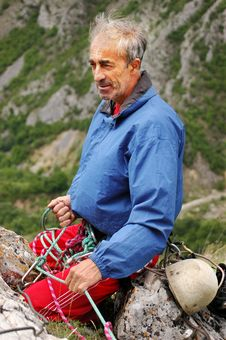 Free Old Man Climber Stock Photo - 14060820