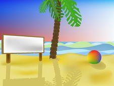 Free Palm Tree On A Beach. Stock Photo - 14061340