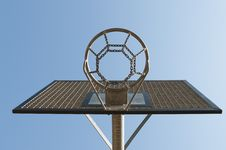 Free Basketball Hoop Outside Royalty Free Stock Photo - 14061735