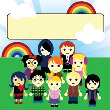 Free Cartoon Kids Unity Royalty Free Stock Photos - 14062378