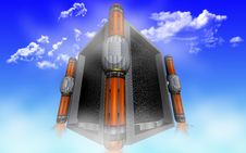 Free The Cube-shaped UFO Royalty Free Stock Images - 14062489