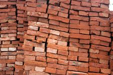 Free Red Ceramic Brick Royalty Free Stock Photo - 14063415