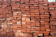 Free Red Ceramic Brick Stock Photography - 14063422