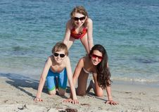Free Teenagers Having Fun At The Beach Stock Image - 14063571
