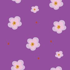 Free Violet Seamless Pattern With  Flower Royalty Free Stock Image - 14063856