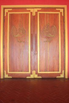 Free Thai Style Door Stock Image - 14064281
