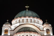 Free Cathedral Of Saint Sava Royalty Free Stock Photo - 14064735
