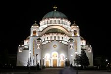 Free Cathedral Of Saint Sava Royalty Free Stock Image - 14064746