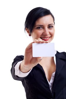 Free White Business Card Stock Image - 14064941