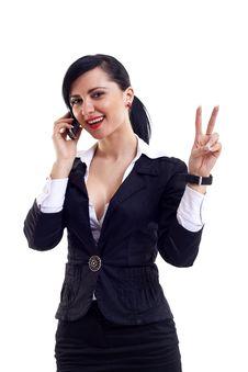 Free Happy Businesswoman Royalty Free Stock Photos - 14064958