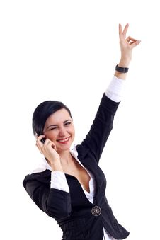 Free Winner On The Phone Royalty Free Stock Photo - 14065005