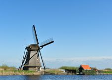 Free Windmill Landscape At Kinderdijk The Netherlands Stock Photo - 14065500