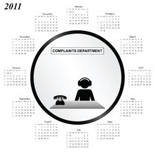 Free 2011 Calendar Royalty Free Stock Images - 14065579