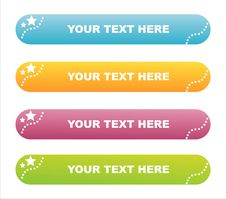 Free Set Of 4 Stars Banners Stock Image - 14065911