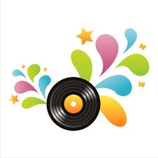 Colorful Vinyl Record Background Royalty Free Stock Photography