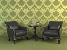 Free Interior With Two Armchairs. Royalty Free Stock Images - 14066859