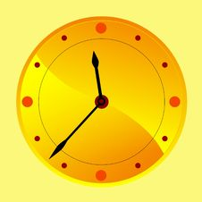 Free Golden Clock Royalty Free Stock Photography - 14067157
