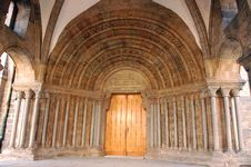 Free Gothic Cathedral Portal In Trebic Stock Image - 14067851