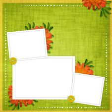 Free Card For The Holiday  With Flowers Stock Images - 14067964