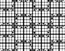 Round Retro Crosswords Background Stock Photo