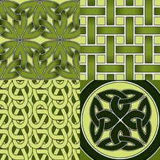 Free Celtic Seamless Patterns Stock Photography - 14068592