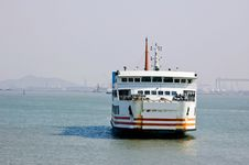 Free Ferry Sailing In The Ocean Royalty Free Stock Image - 14069496