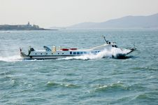Free Fast Ferry Sailing In The Ocean Stock Photo - 14069840
