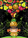 Free Pineapple Girl (fruity Series) Royalty Free Stock Photos - 14074898