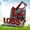 Free Online Trading Loss Symbol Royalty Free Stock Photography - 14078497
