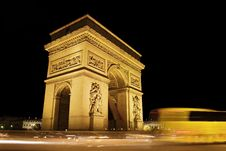 Free Night View Of Arch Of Triumph, France Stock Photography - 14070202