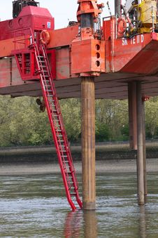 Free Dredger In The River Thames Stock Image - 14071351