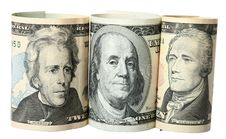 The Dollar Banknotes Royalty Free Stock Image