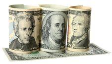 The Dollar Banknotes Royalty Free Stock Photos