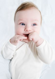 Free Adorable Laughing Baby Boy Royalty Free Stock Image - 14072006