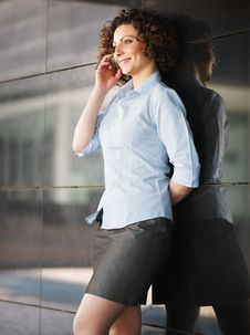 Free Woman Talking On The Phone Royalty Free Stock Photos - 14073498