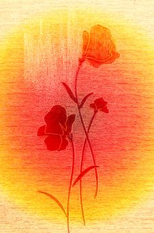 Free Wonderful Poppies On The Canvas. Stock Photos - 14074243